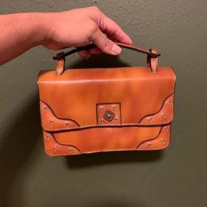 Small Mini Brown Boho Handbag